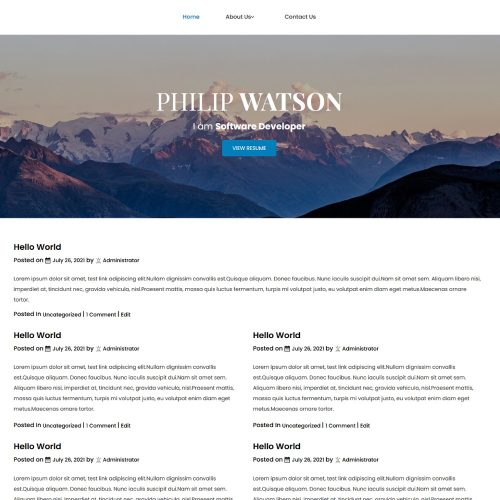 Philip Watson - CV for Software Developer Blogger Template
