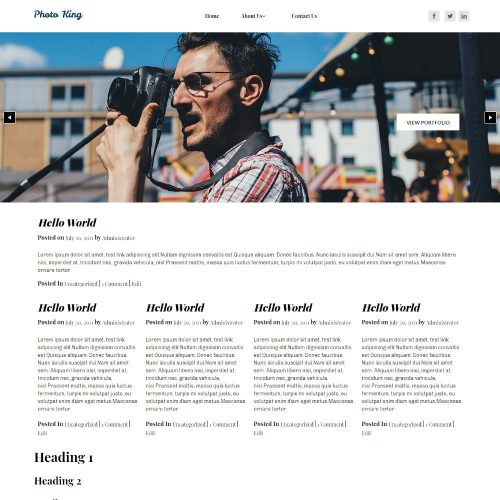 Photica - Photography Blogger Template