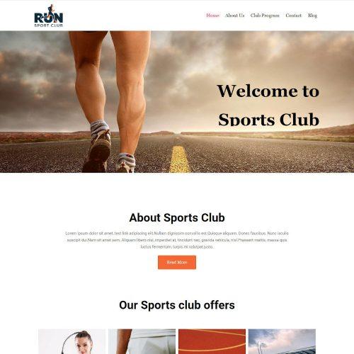 Run - Sports Club WordPress Theme