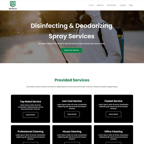 Shield - Sanitizing and Cleaning Services Drupal Theme