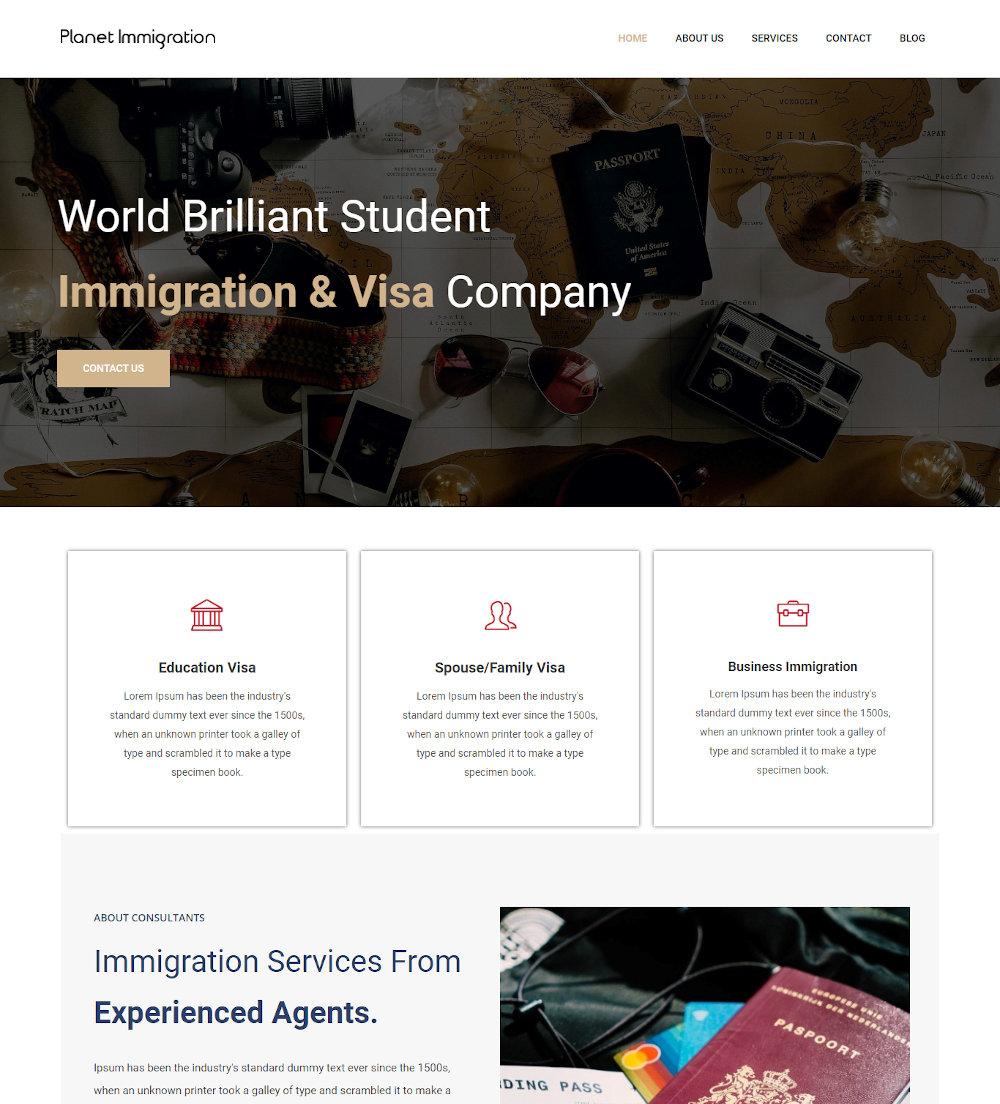 Smart Visa - Immigration and Visa Consulting Drupal Theme