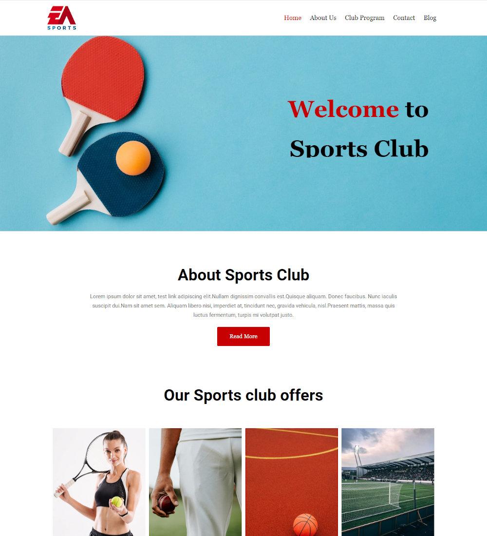 Sportize - Sports Club Drupal Theme