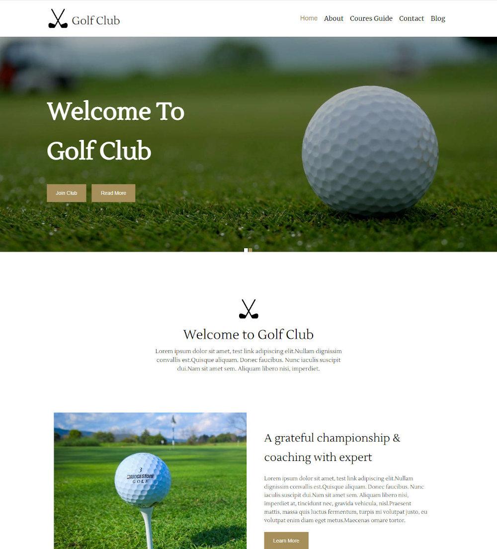 The Golf Club - Golf Club WordPress Theme