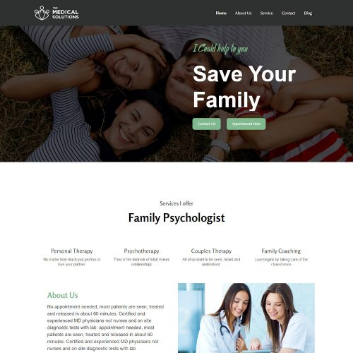 The Health Solution - Doctor and Hospital Health WordPress Theme
