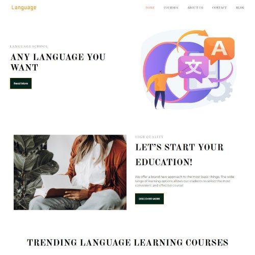 The Language School Drupal Theme