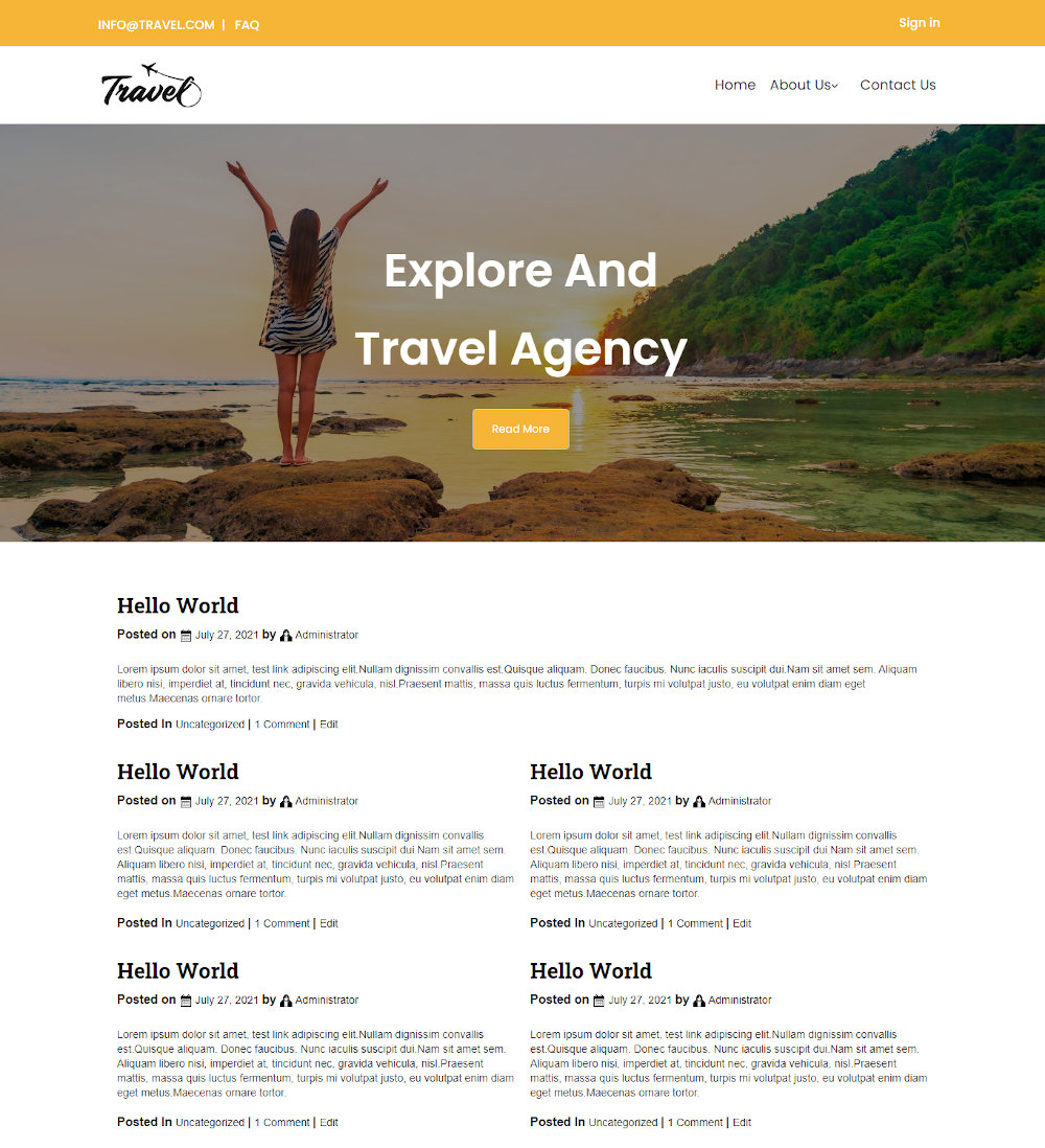 Travel Tred - Travel Agency Blogger Template