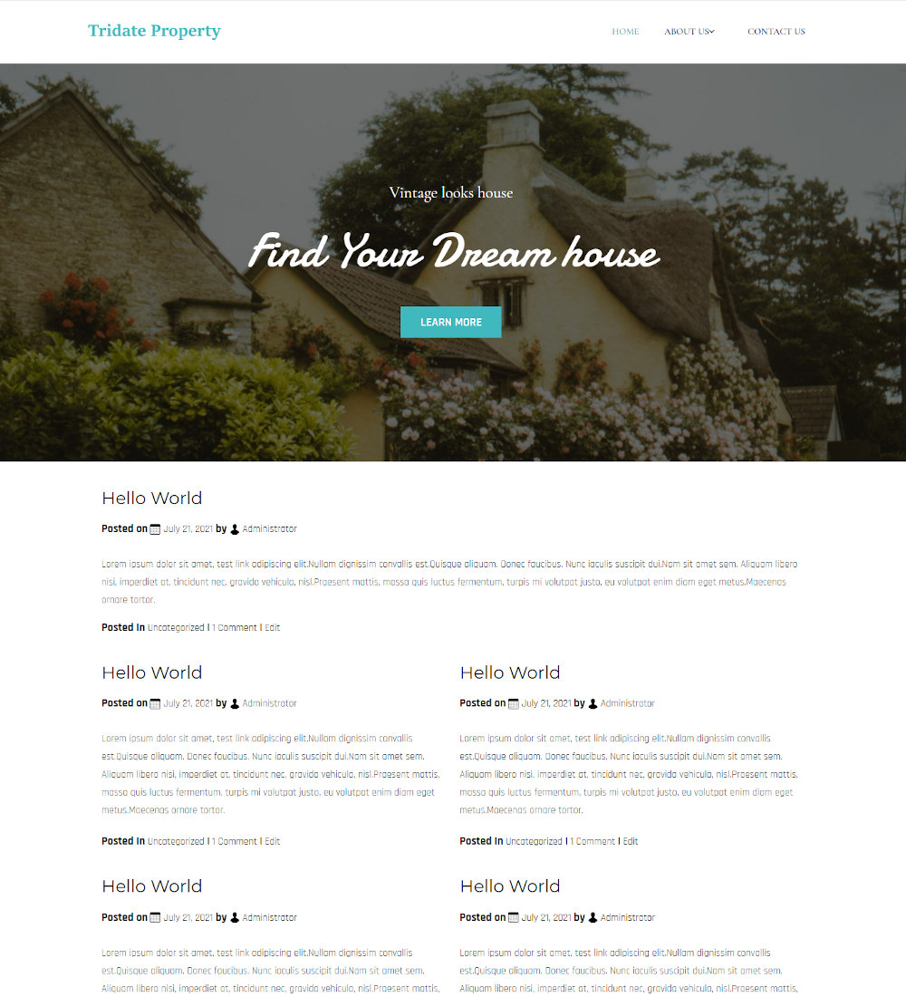 Tridate Property - Real Estate & Property Rent Service Blogger Template