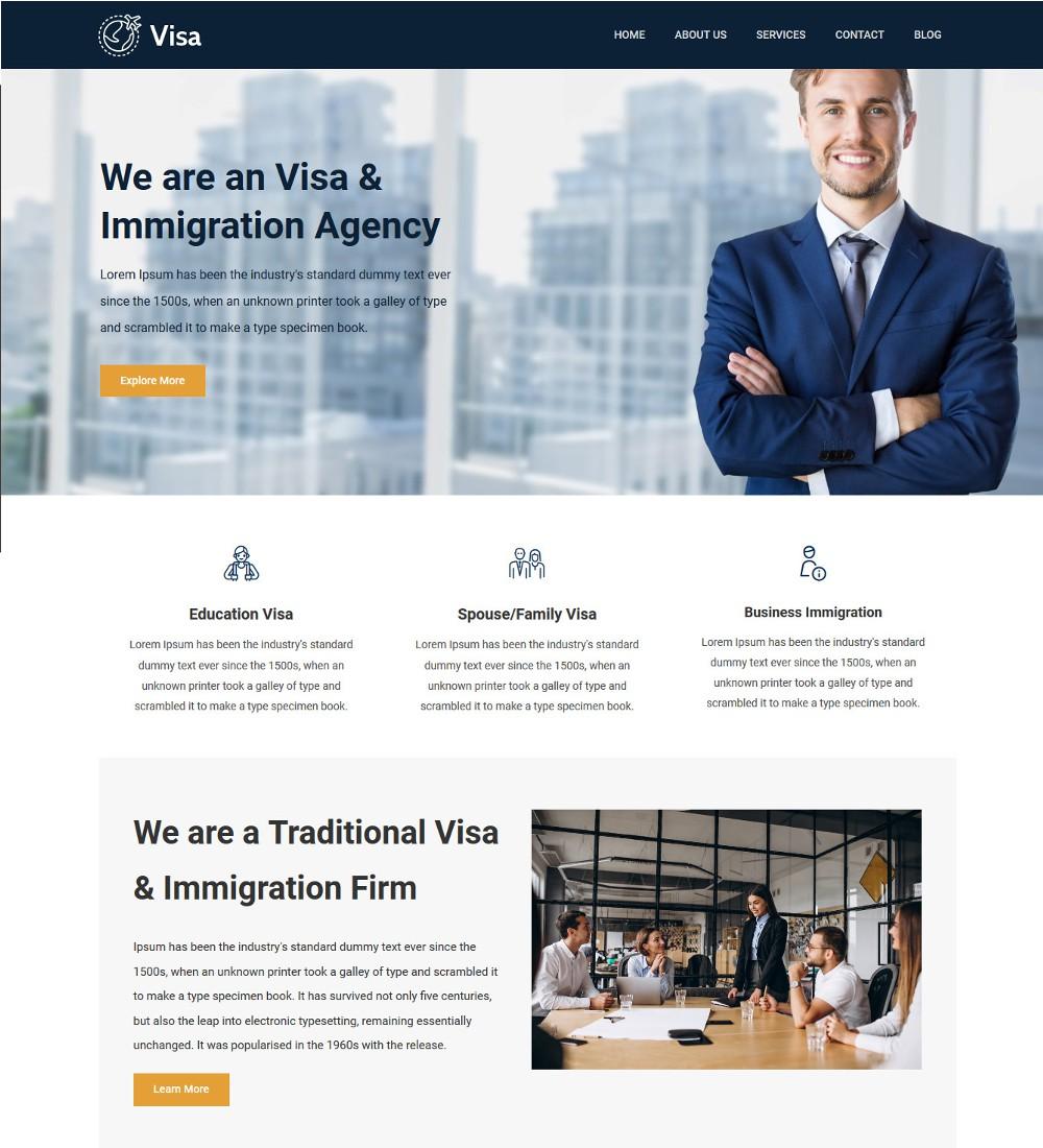 Visa Immigration Visa Consulting Drupal Theme