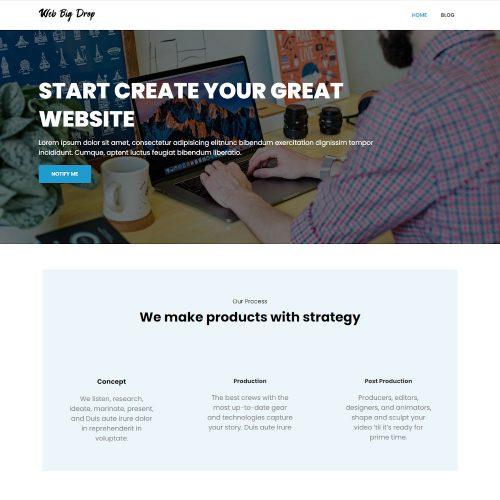 Web Big Drop - Web Agency Coming Soon One Page Drupal Theme