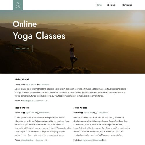 Yoga & Fitness Trainer Blogger Template