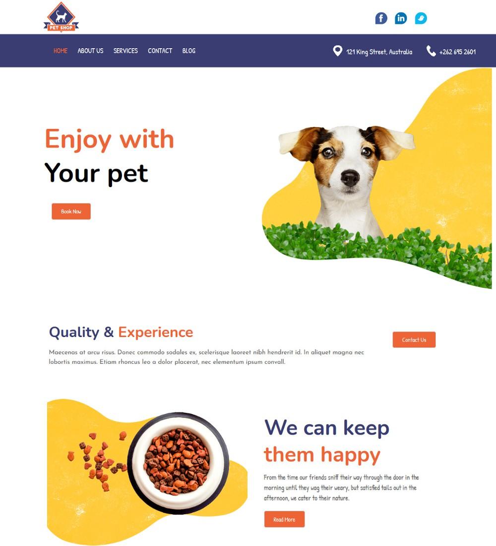 pet shop and clinic drupal theme