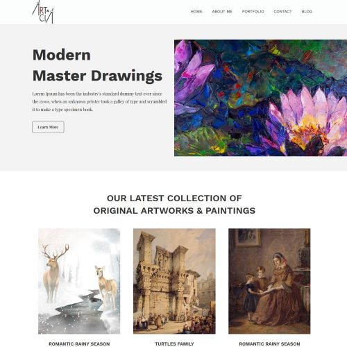 Arts - Artists Painting & Creative Design Gallery Joomla Template