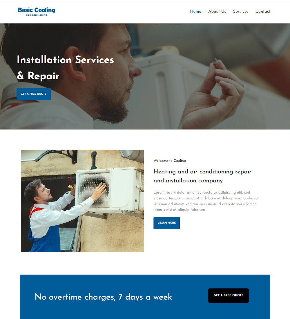 Base Cooling - Heating & Air Conditioning Joomla Template