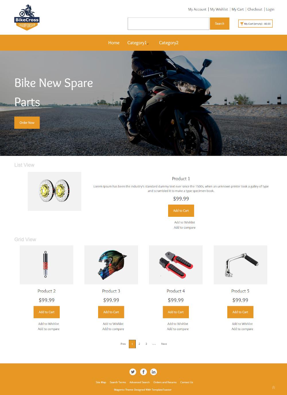 Bike Cross - Bike Accessories Store Magento Theme