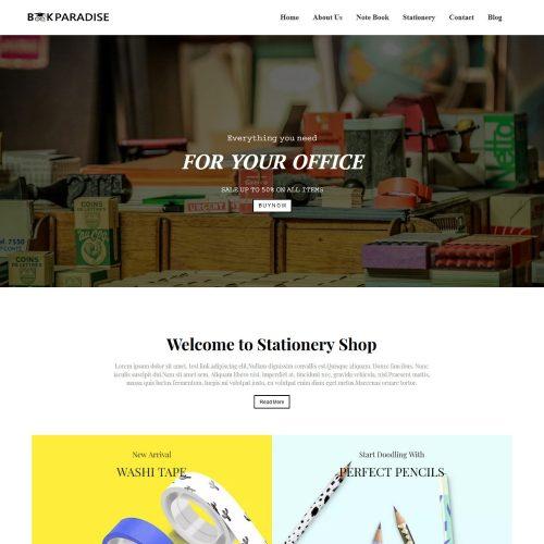 Book Paradise - Stationery Shop Joomla Template