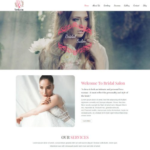 Bridal Salon -Beauty Salon Joomla Template
