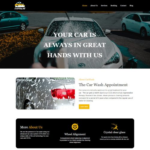Carowas - Car Washing Service Joomla Template