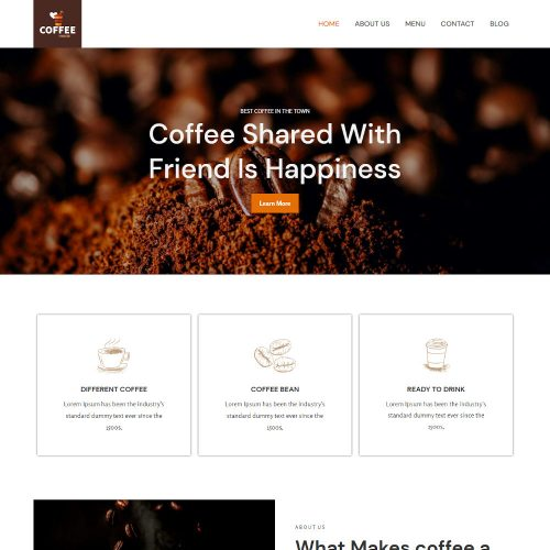 Coffee House - Coffee Shop Joomla Template