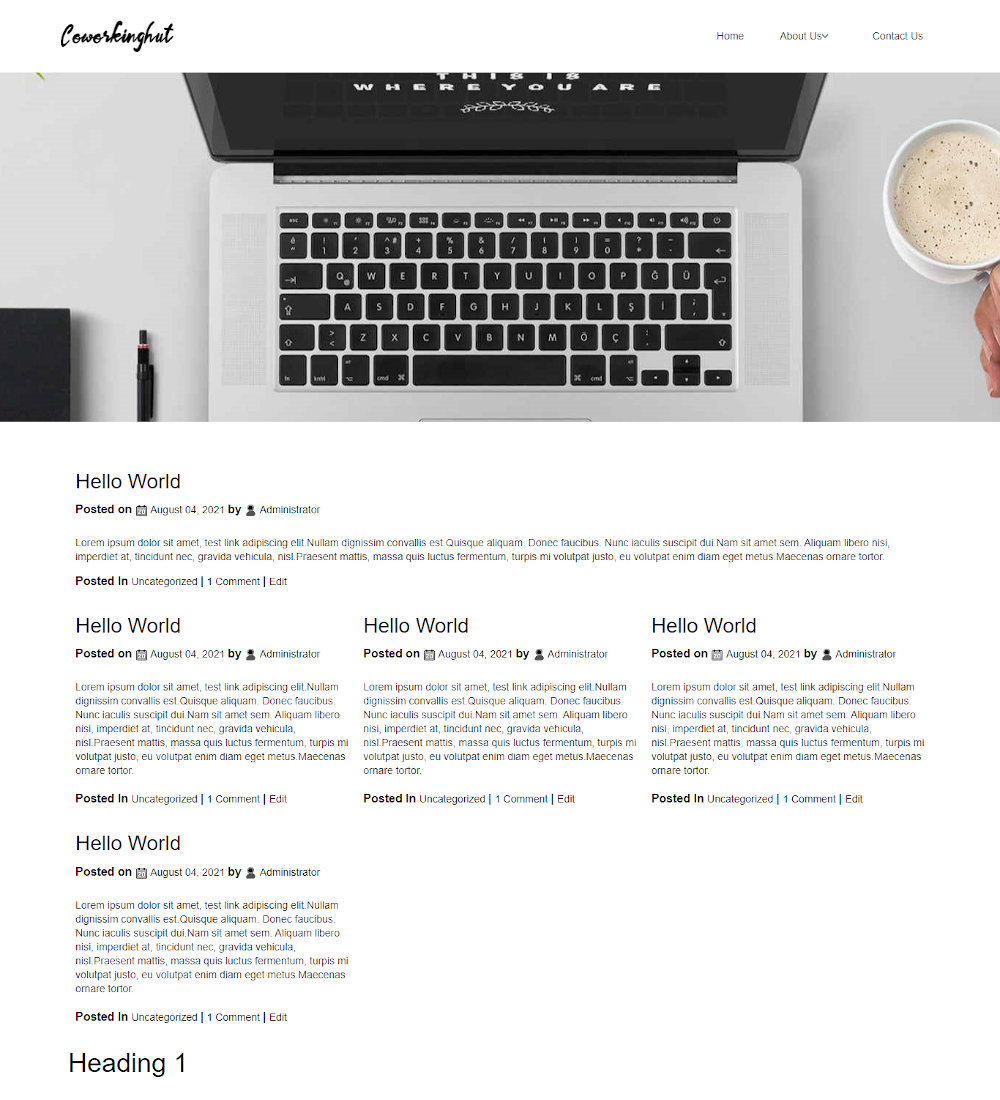 Coworkinghut - Coworking Space Blogger Template