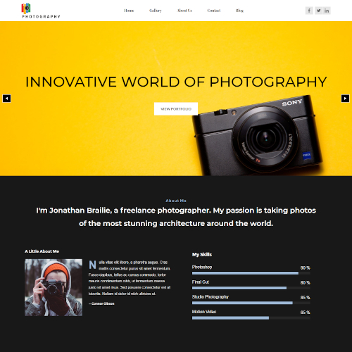 Design and Photography Drupal Themes