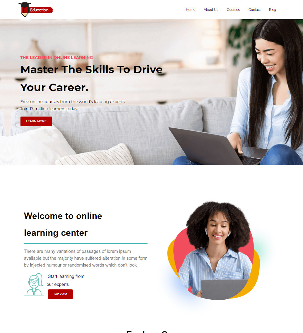 Education - Online Courses and Education Joomla Template