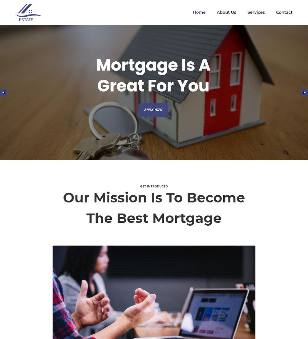 Estate - Real Estate Mortgage WordPress Theme