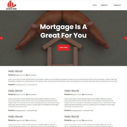 Estaterise - Real Estate Mortgage Blogger Template