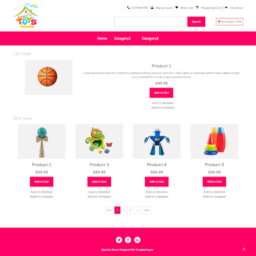 Family OpenCart Themes