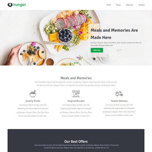 Food and Restaurant Drupal Themes