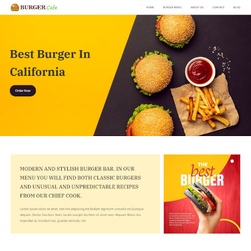Food and Restaurant HTML Templates