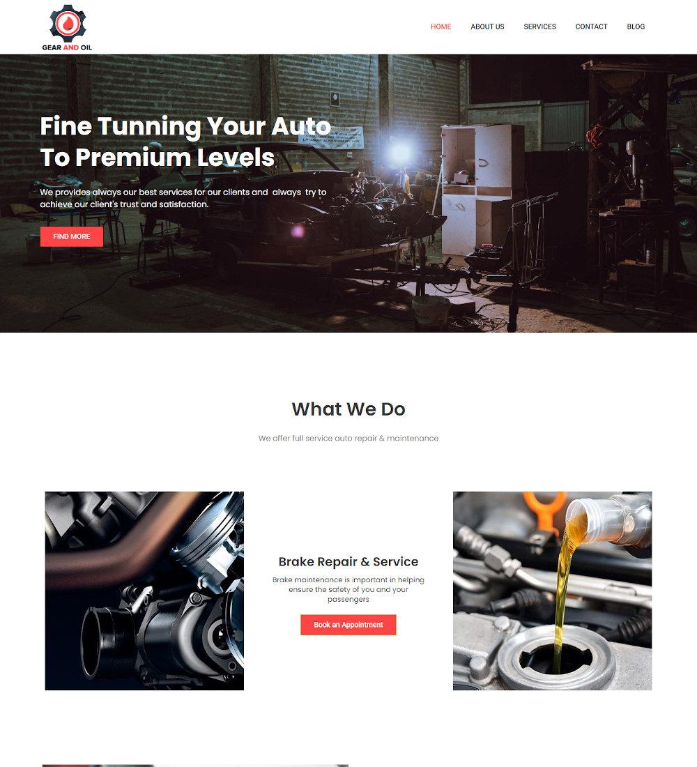 Gear & Oil - Car Repair WordPress Theme