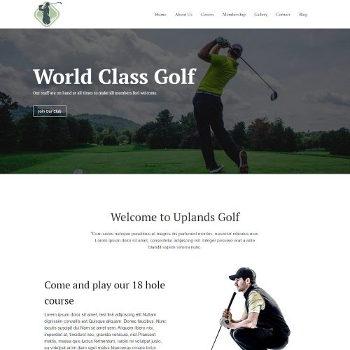 Golfooze - Golf Club Joomla Template