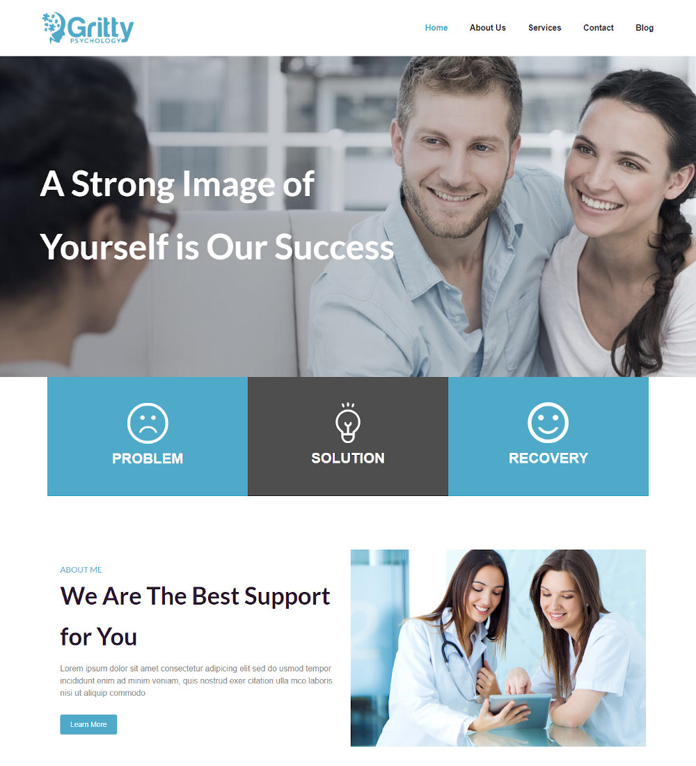 Gritty -Psychology & Counseling Joomla Template