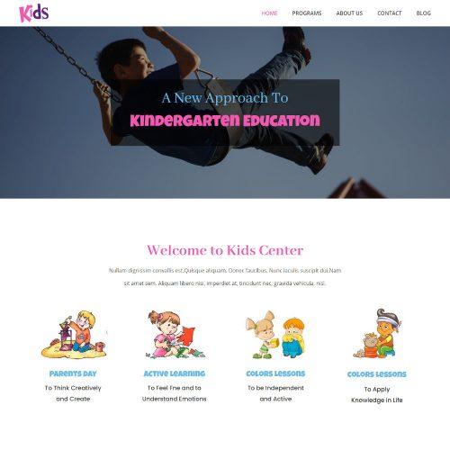 Kids - Kindergarten & Pre-School Joomla Template