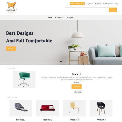 Komfort - Furniture Store Magento Theme