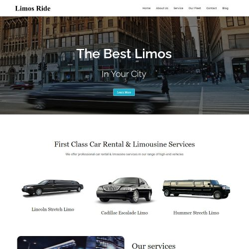 Limos Ride - Limousine and Car Rent Joomla Template