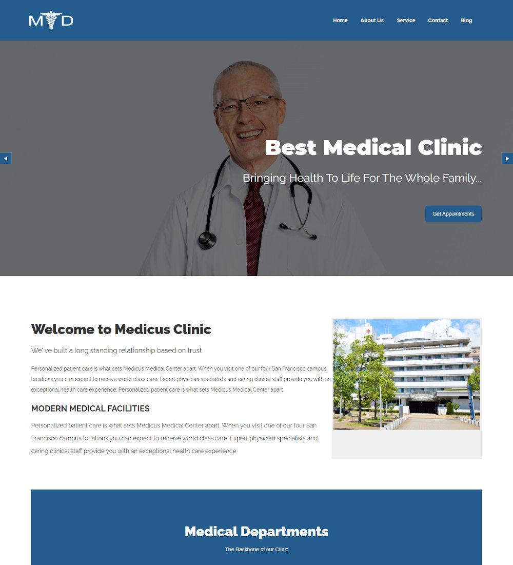 MD - Doctor and Hospital Health Joomla Template