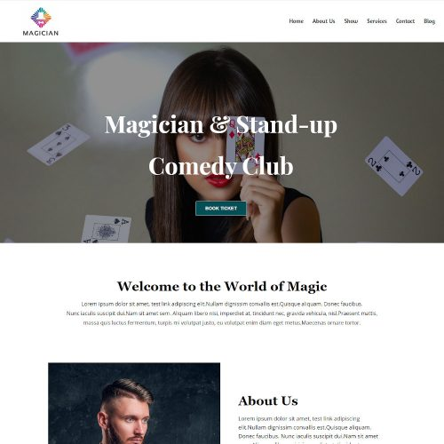 Magician - Magician Artist & Performer Joomla Template