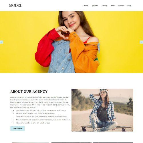 Model - Fashion Model Agency Joomla Template