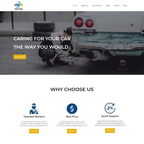Motor - Auto Service and Car Repair Joomla Template