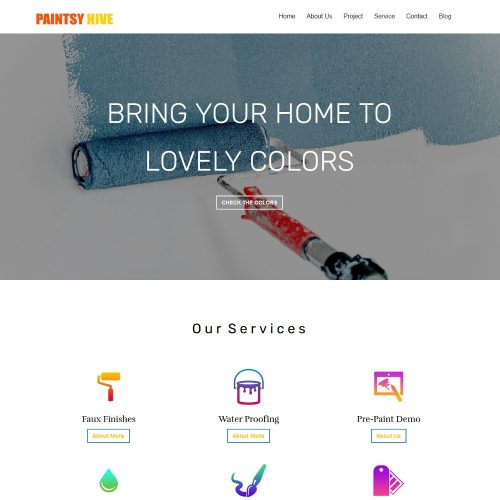 Paintsy Hive - Paint Shop Joomla Template