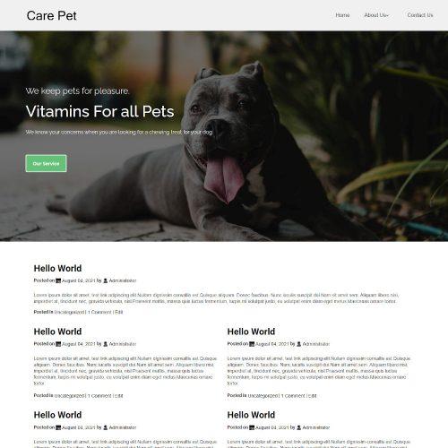 Pet Care Clinic Blogger Template