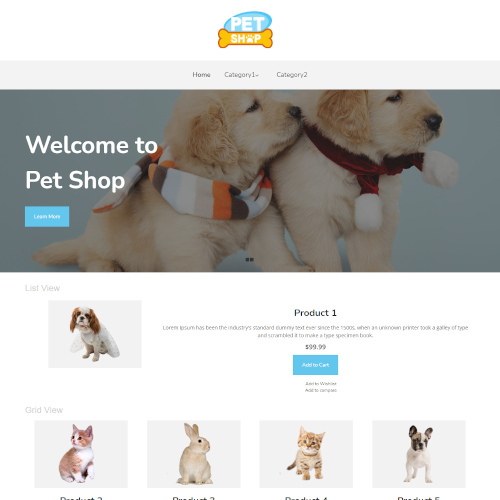 Pets and Animals WooCommerce Themes
