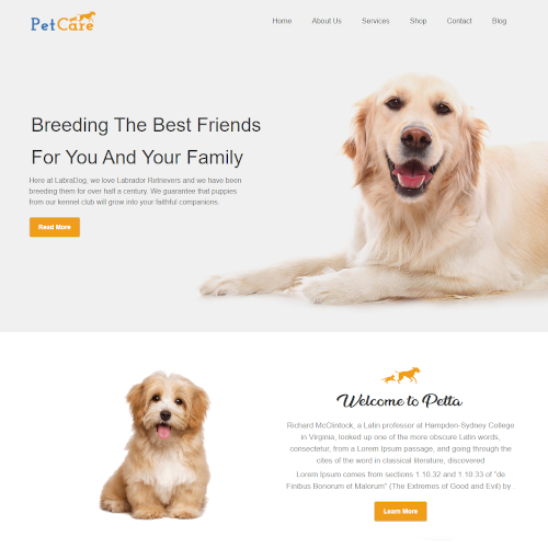 Pets and Animals WordPress Themes