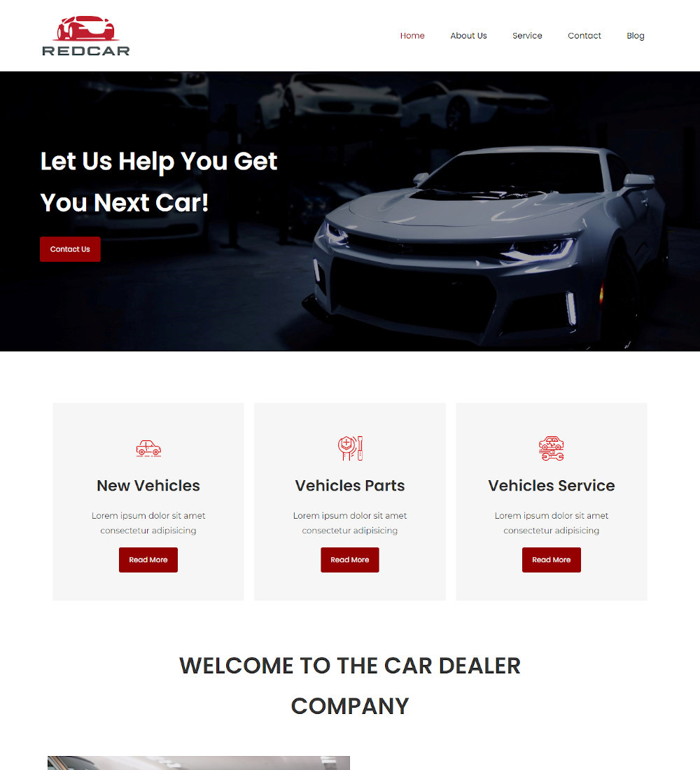 Redcar - Car Dealer Joomla Template