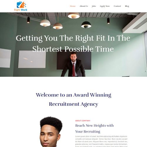 Right Work - Human Resource & Recruitment Agency Joomla Template