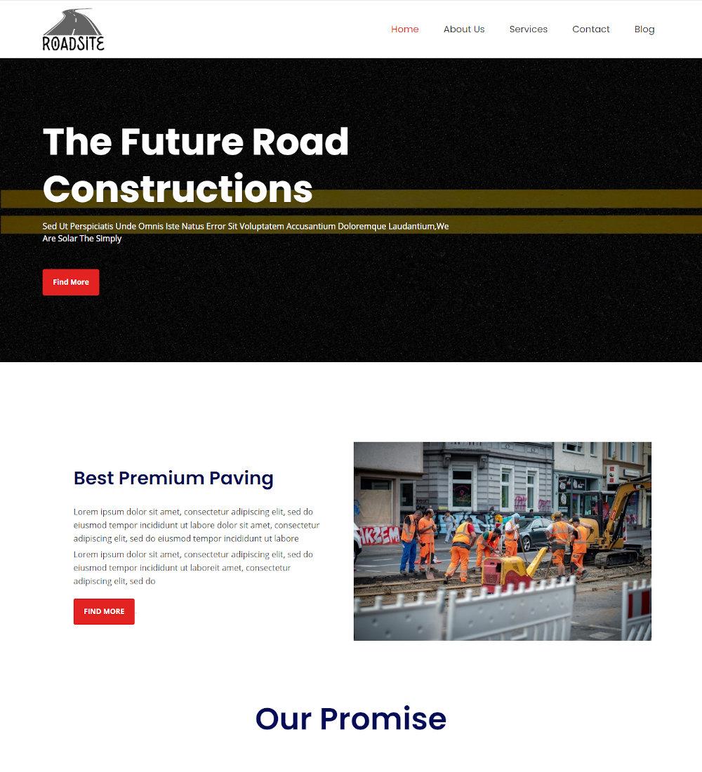 Road Site - Road Construction Joomla Template