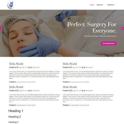 Surgerapy - Plastic Surgery Blogger Template
