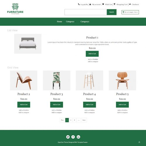 The Furniture - Online Furniture Store OpenCart Theme