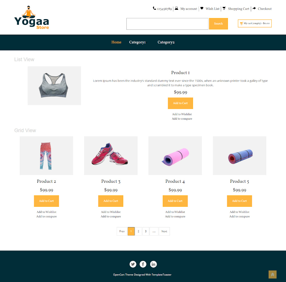 The Yoga Online Store OpenCart Theme